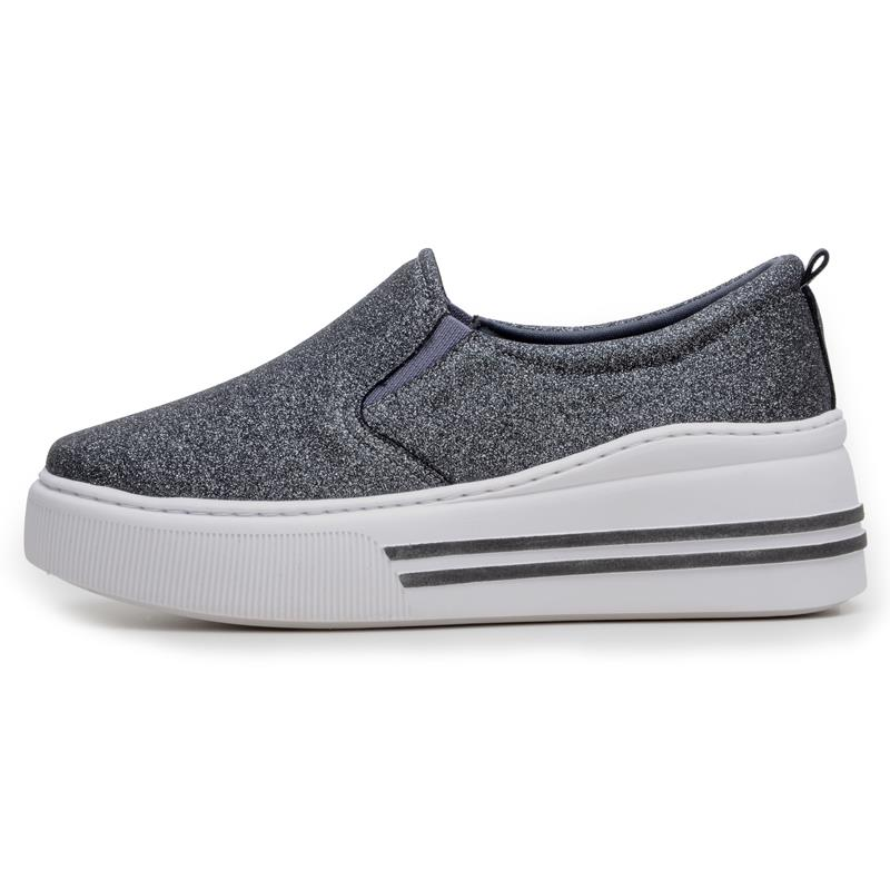 Tênis Feminino Casual DuduDias10 Slip On Diamante Metal