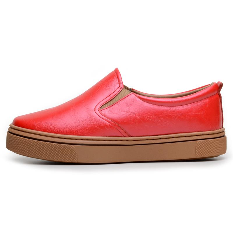 Tênis Feminino Slip On Casual DuduDias10 Cereja