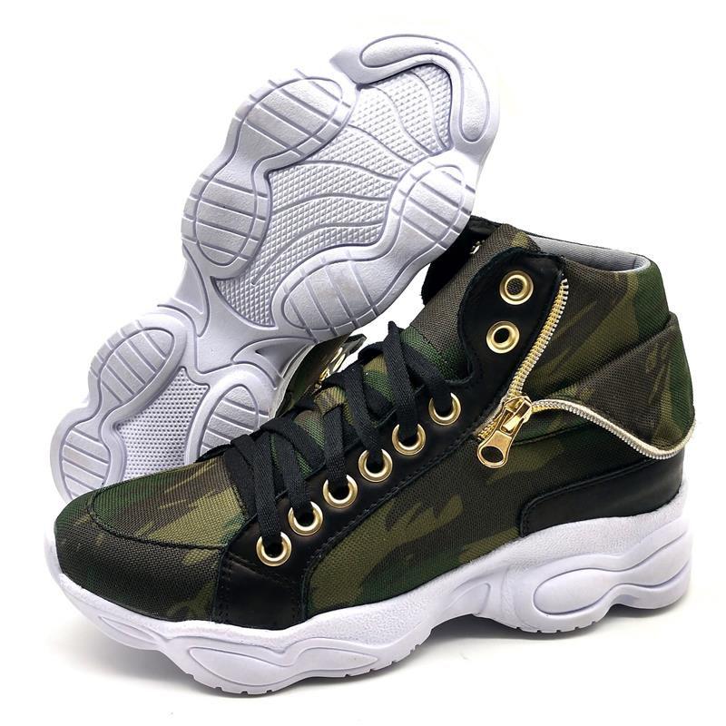 Tênis Sneaker BMBrasil 250-01 Verde Militar
