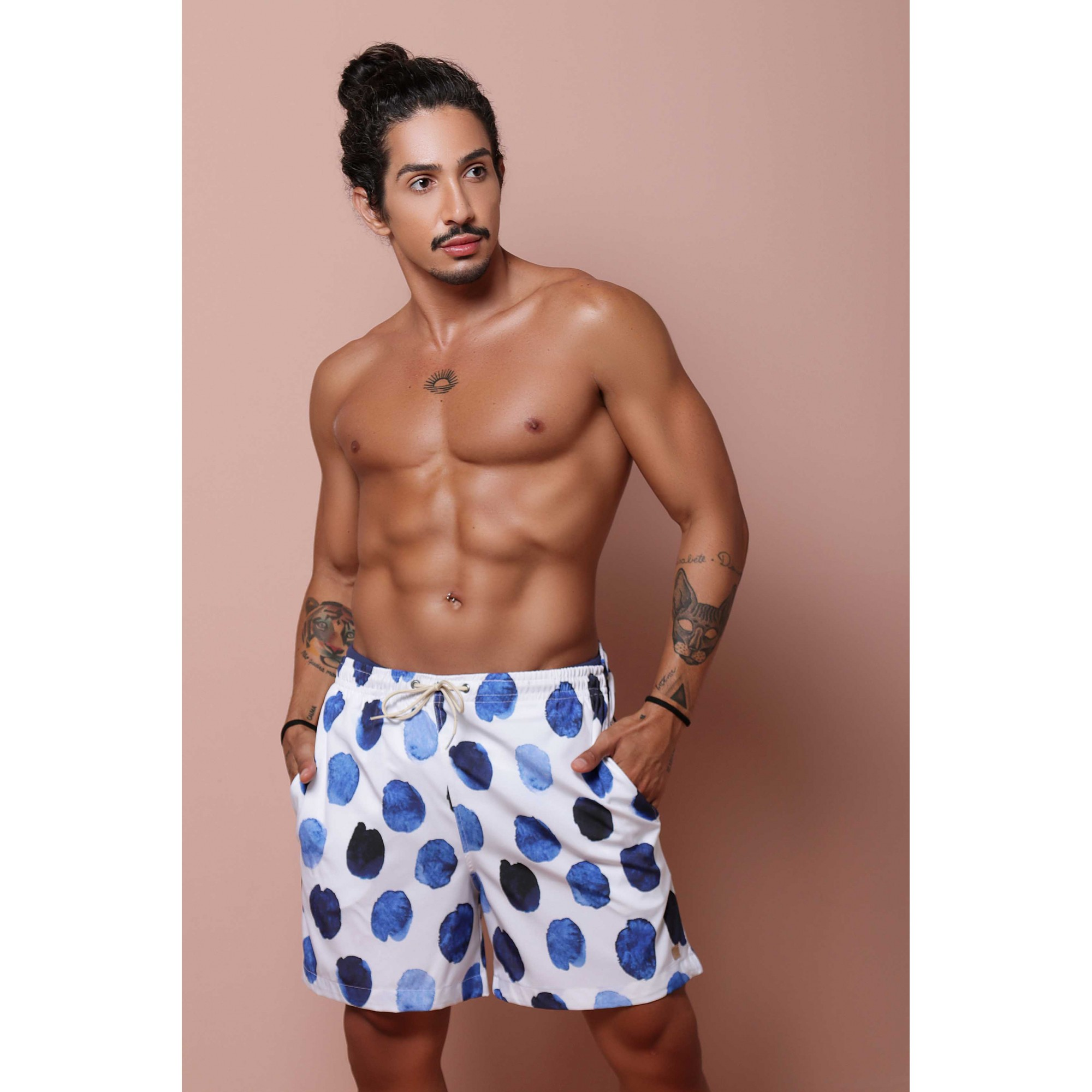 Shorts Estampado Porcelana