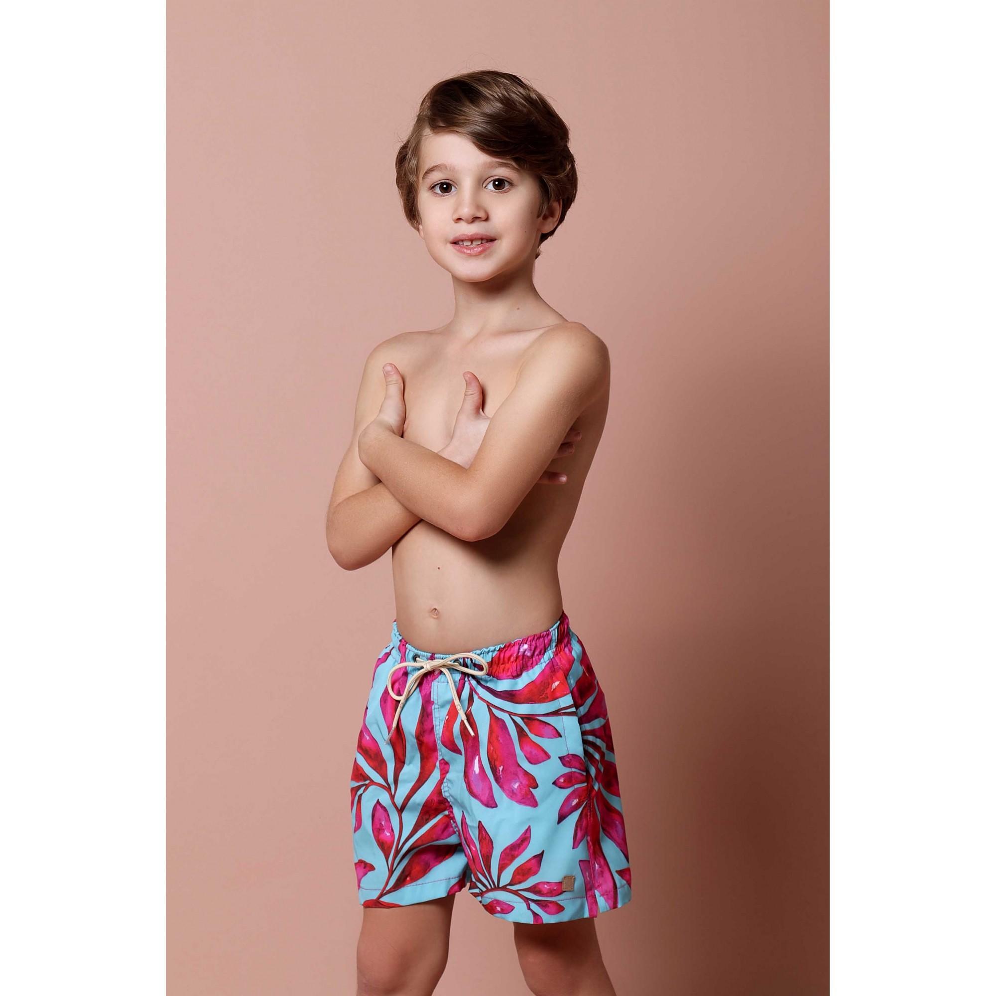 Shorts Infantil Folhagem