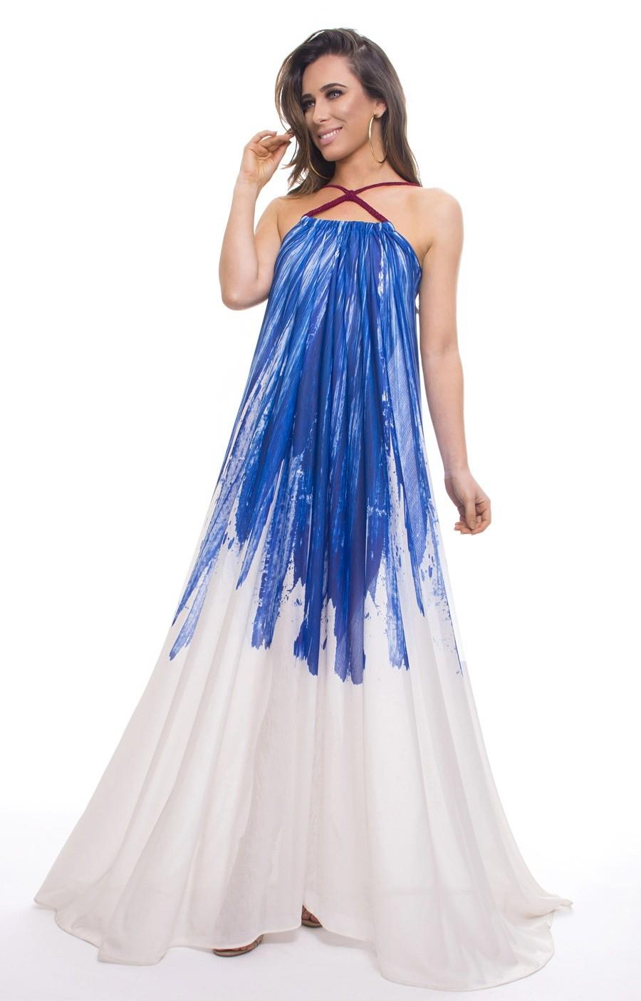 Vestido Amplo Cristalina