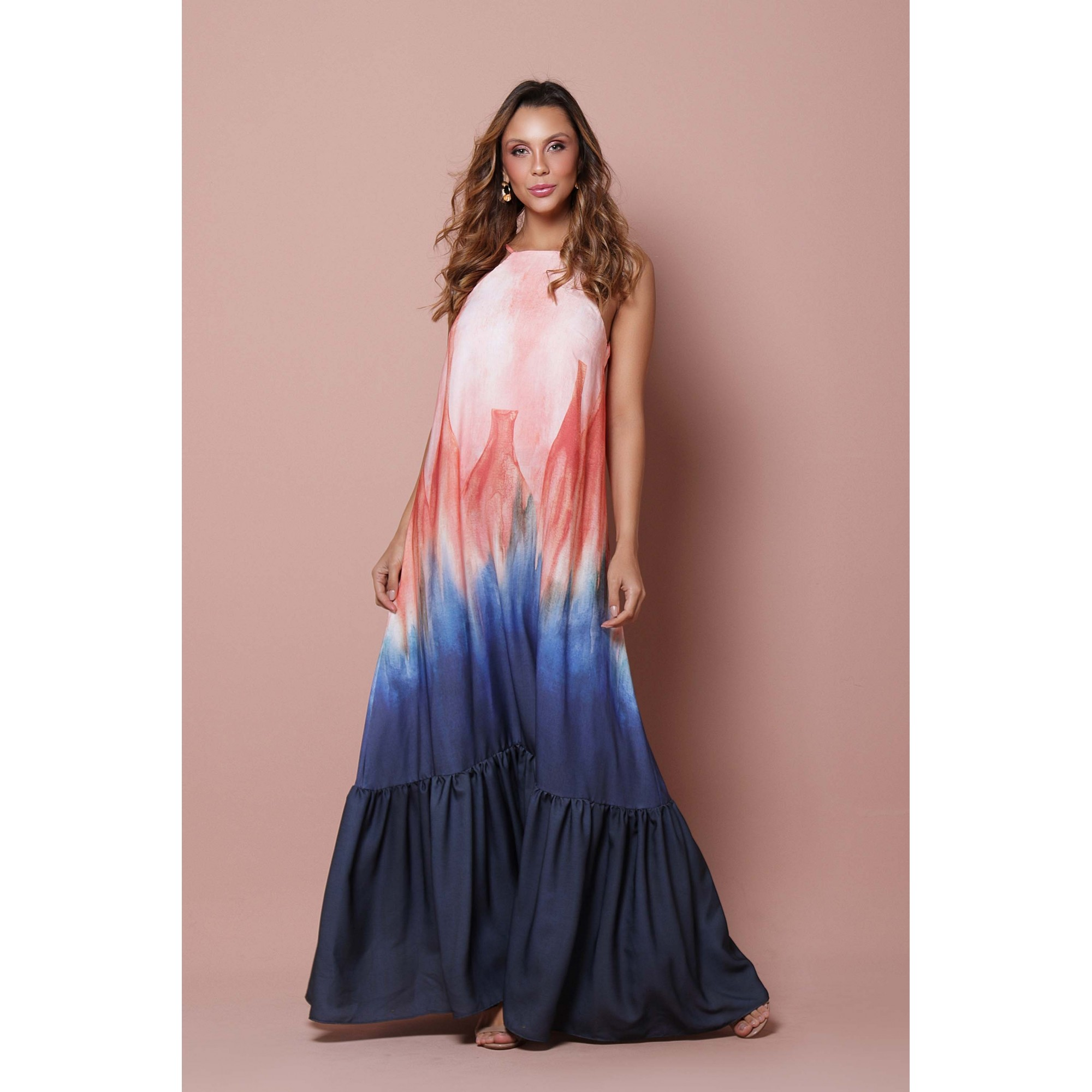 Vestido Barrado Cerâmica