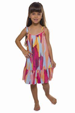 Vestido Curto Infantil Cascalho