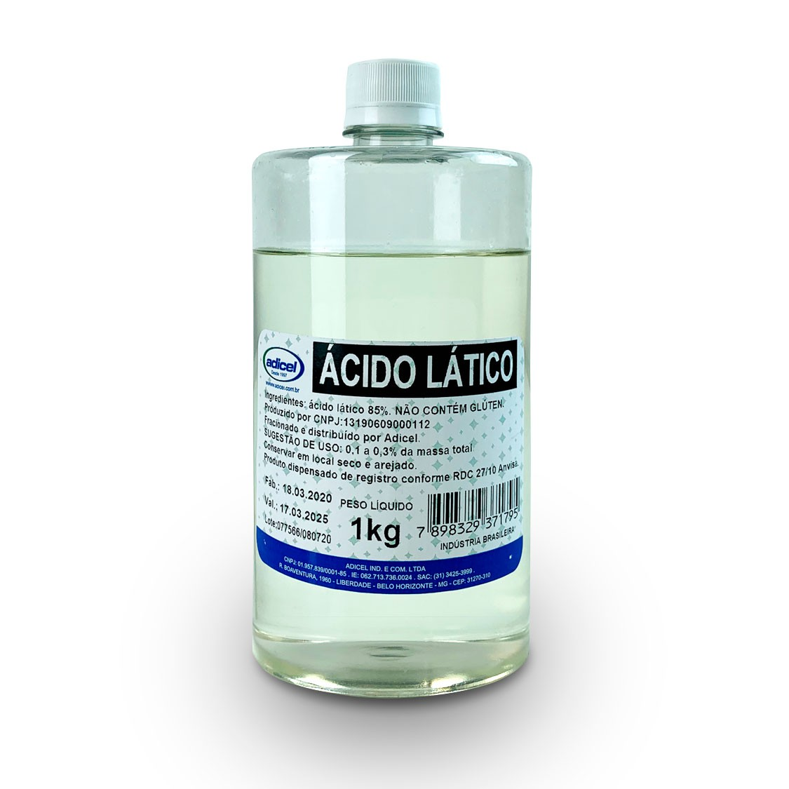 Ácido Lático - 1 Kg