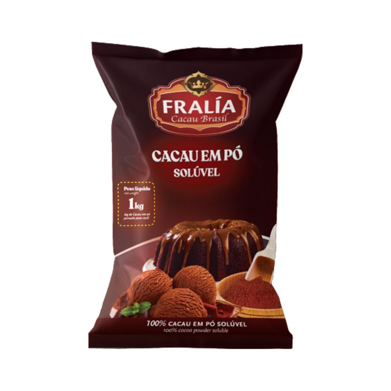 Cacau Alcalino Em Pó Fralía Adicel - 1 kg