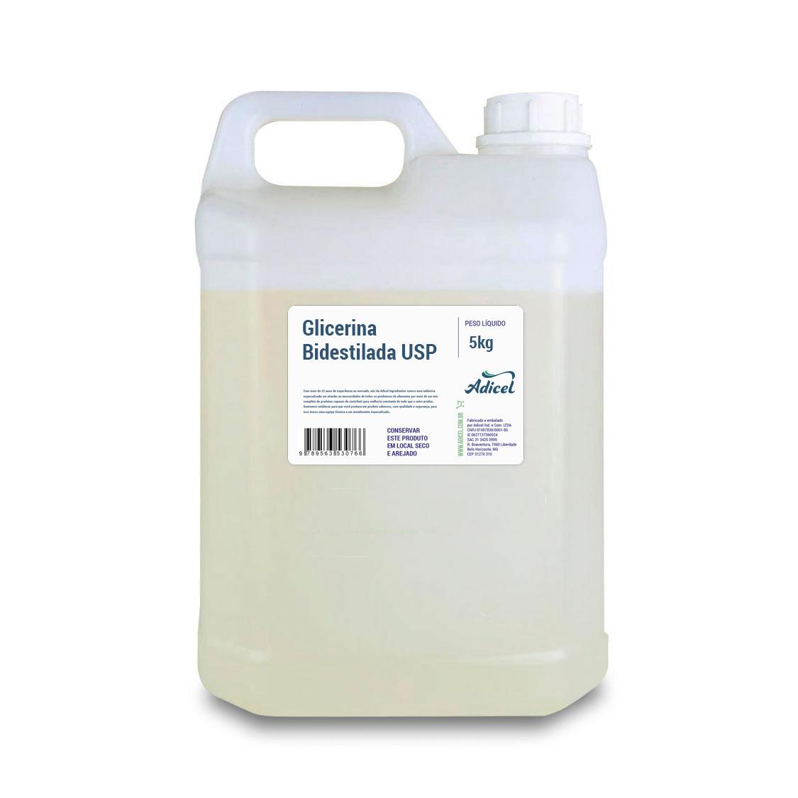 Glicerina Bidestilada USP - 5KG