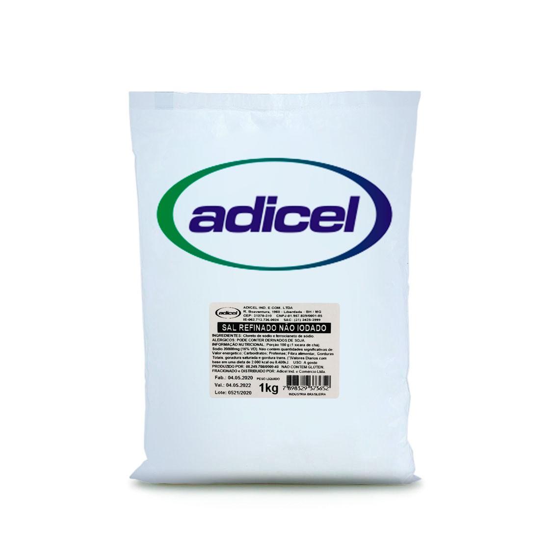 Sal Refinado Sem Iodo - 1 kg