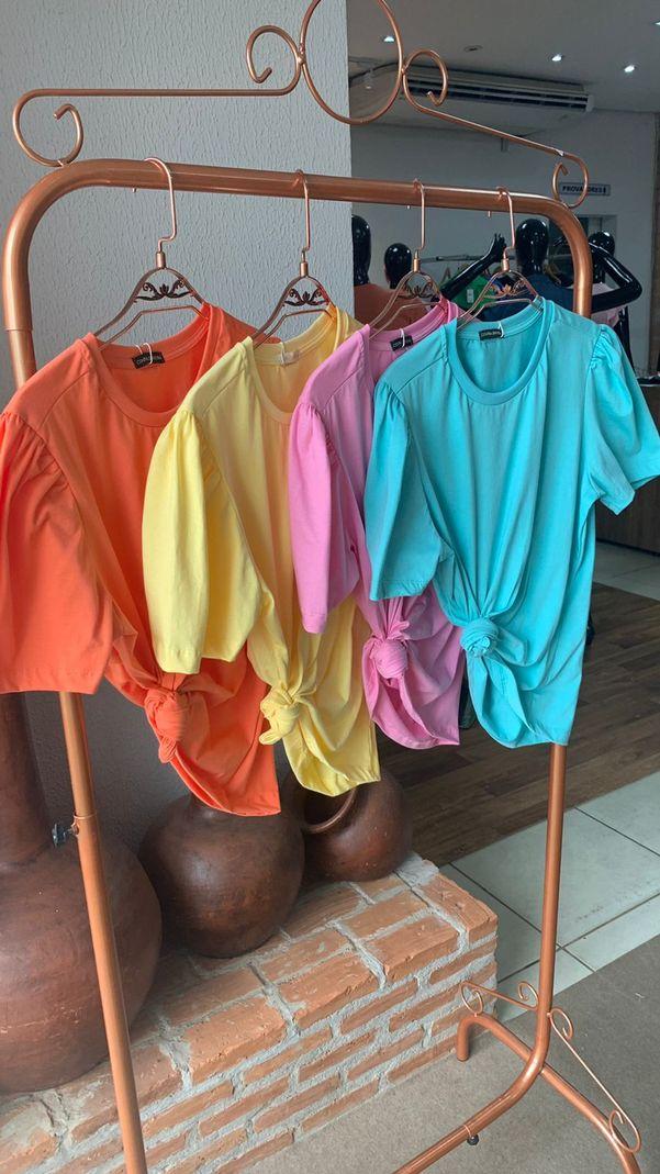 [PRÉ-VENDA] Blusa T-Shirt Color Gola Ribana - Contra Sensura