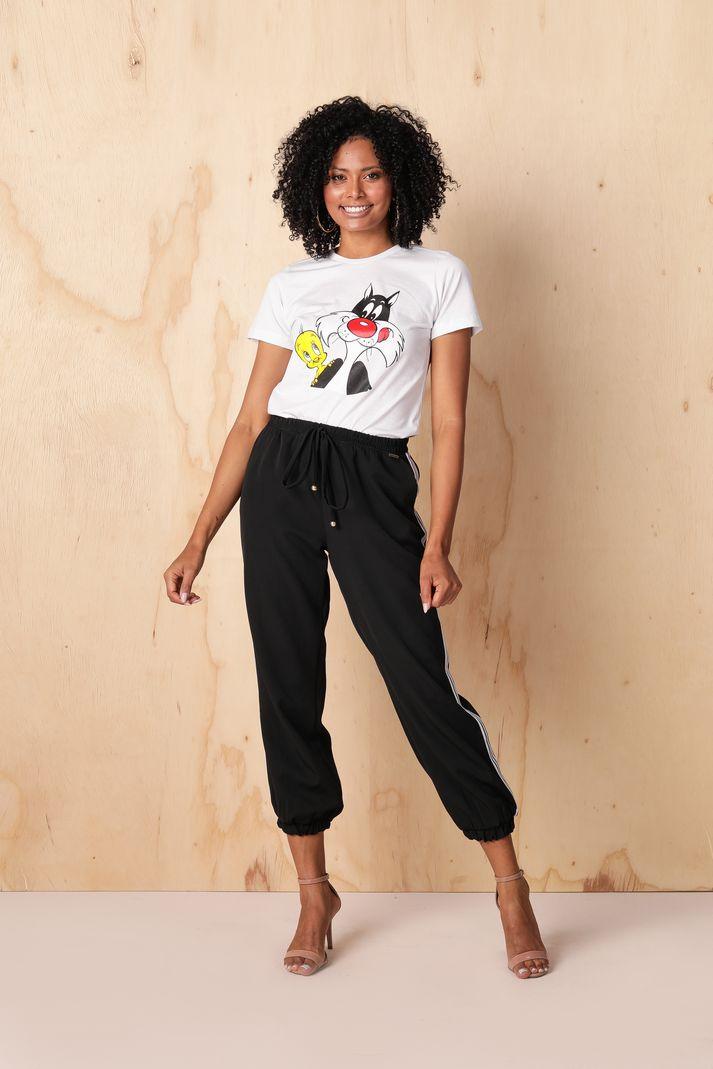 [PRÉ-VENDA] Blusa T-shirt Frajola Piu Piu - Contra Sensura