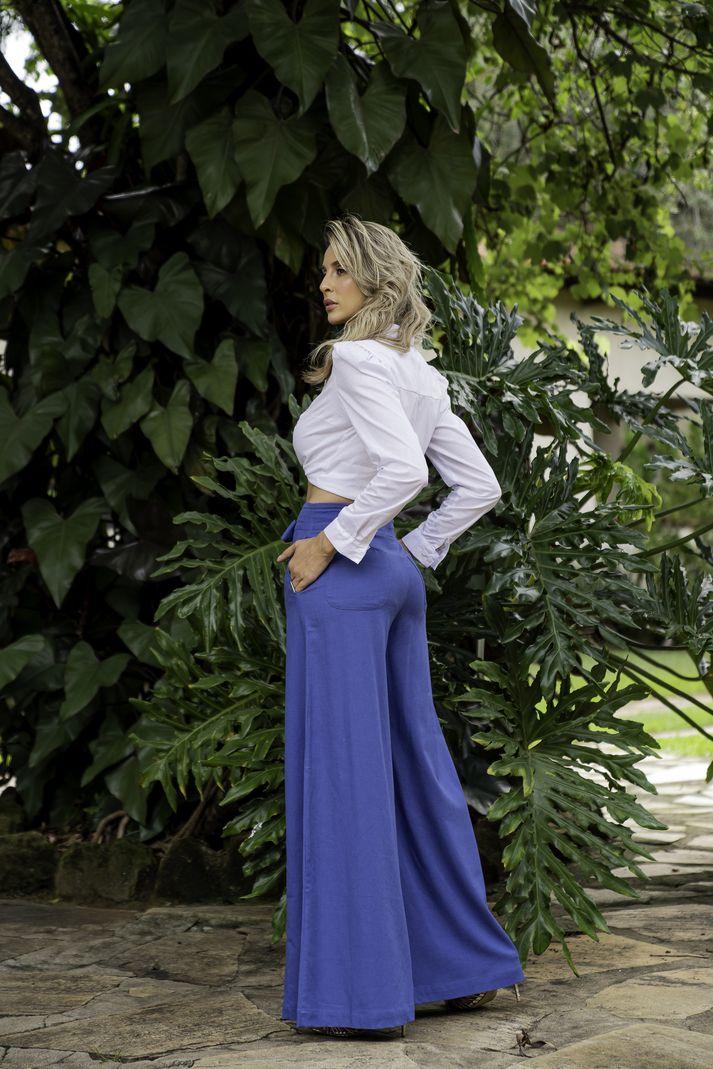 [PRÉ-VENDA] Calça Feminina Pantalona Recorte Frente  - Contra Sensura