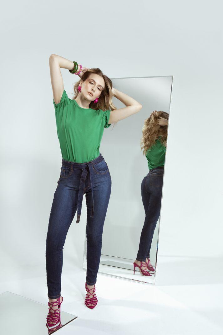 [PRÉ-VENDA] Calça Skinny Feminina com Amarração - Contra Sensura