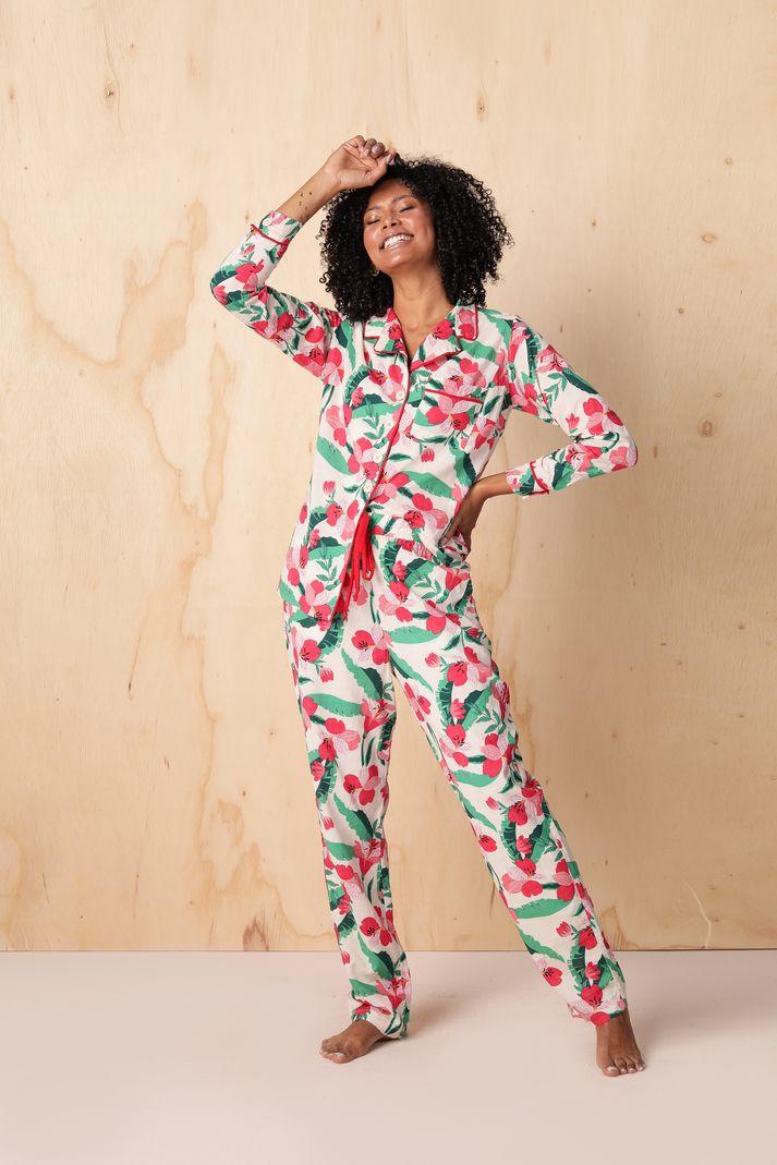 Conjunto Pijama Calça Estampada c/Vivo - Contra Sensura