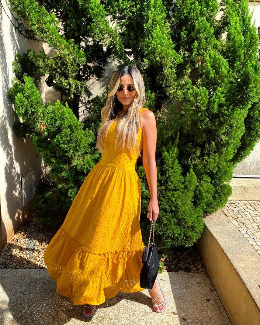 [PRÉ-VENDA] Vestido Alça c/ Elástico Lese - Contra Sensura (Amarelo)