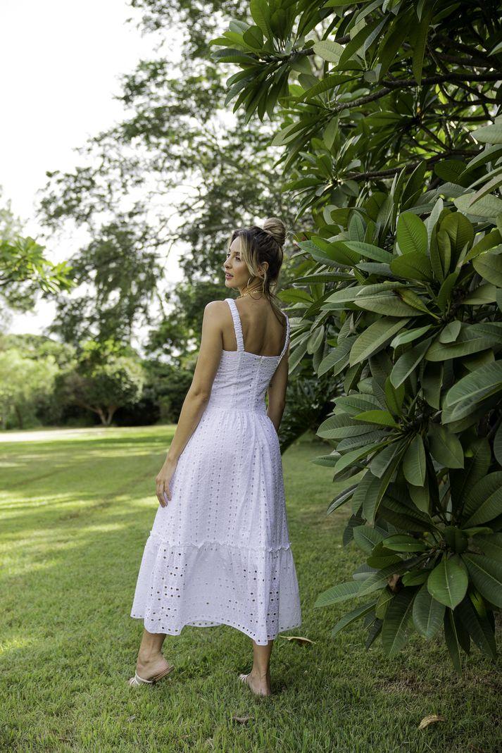 Vestido Alça c/ Elástico Lese - Contra Sensura (Branco)