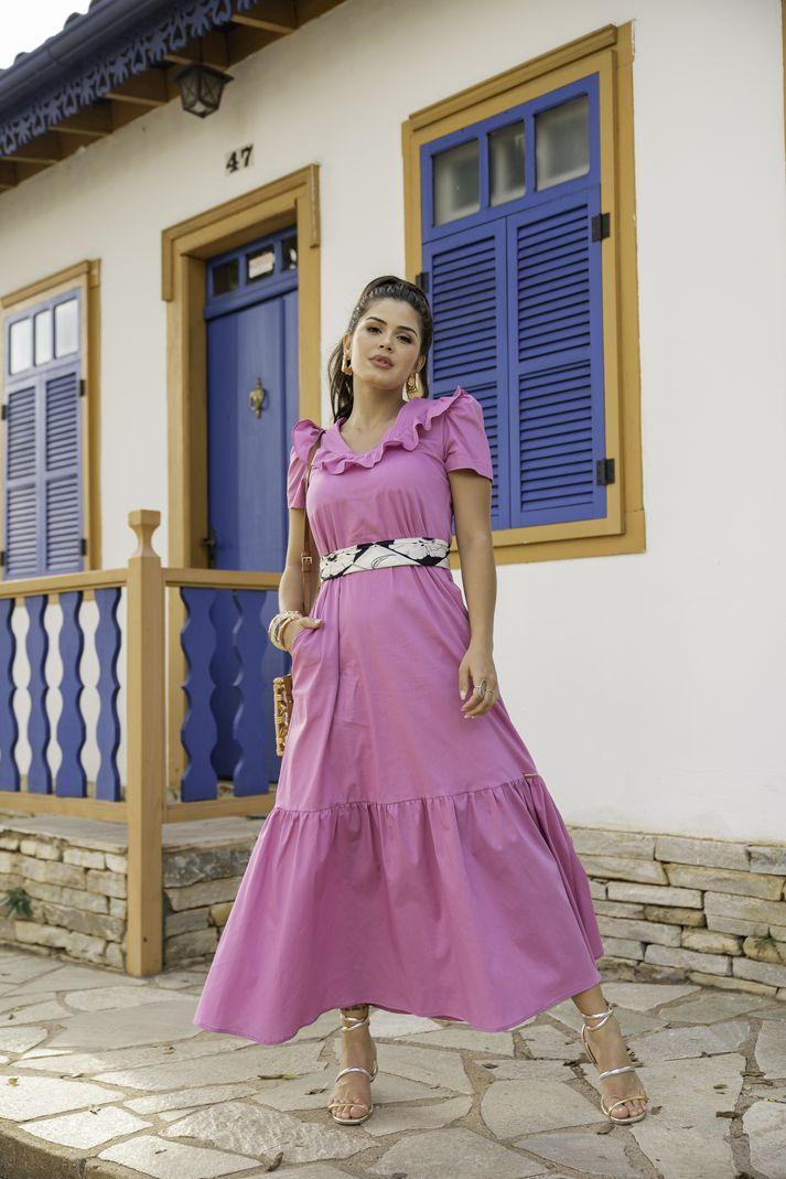 [PRÉ-VENDA] Vestido Babado Longo - Contra Sensura