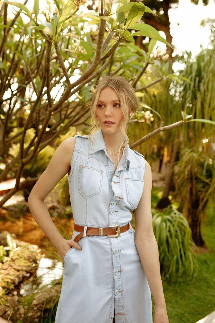 [PRÉ-VENDA] Vestido Contra Sensura Midi Jeans