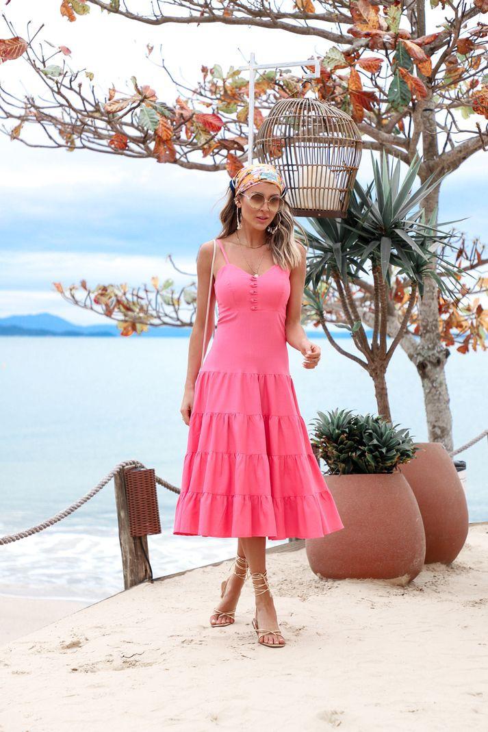 [PRÉ-VENDA] Vestido Contra Sensura Midi Marias Linho