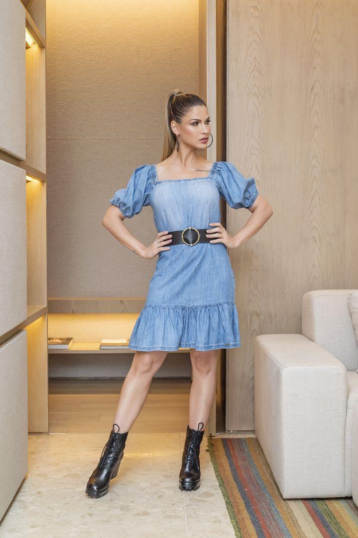 Vestido Jeans Contra Sensura Curto