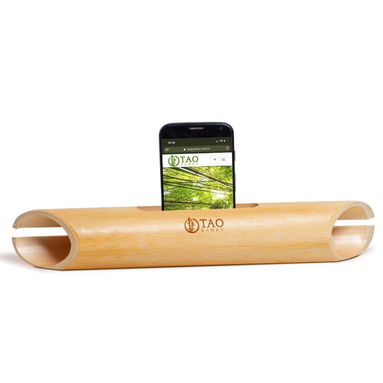 Caixa de Som de Bambu Clássica