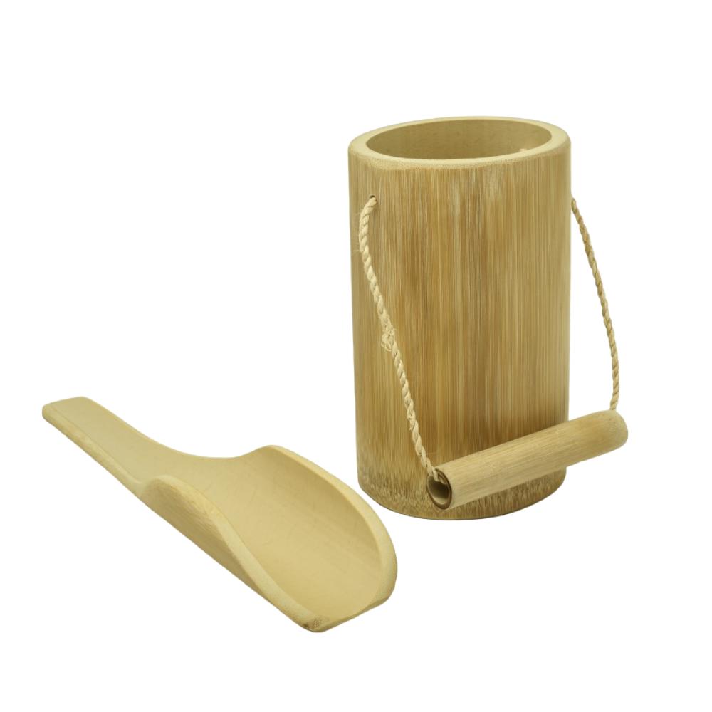 Kit Balde + Pazinha de Bambu