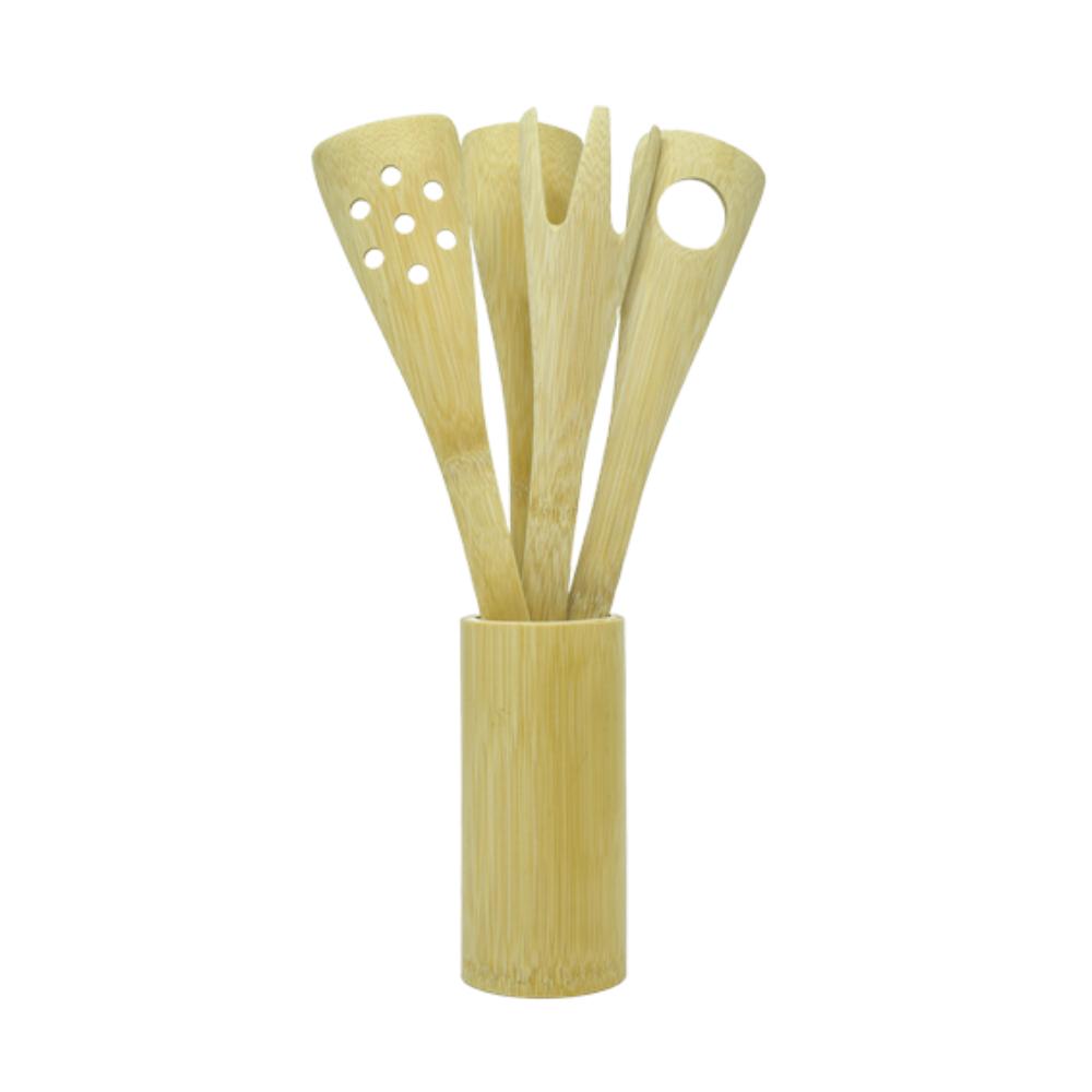 Kit Colheres de Bambu Manjericão