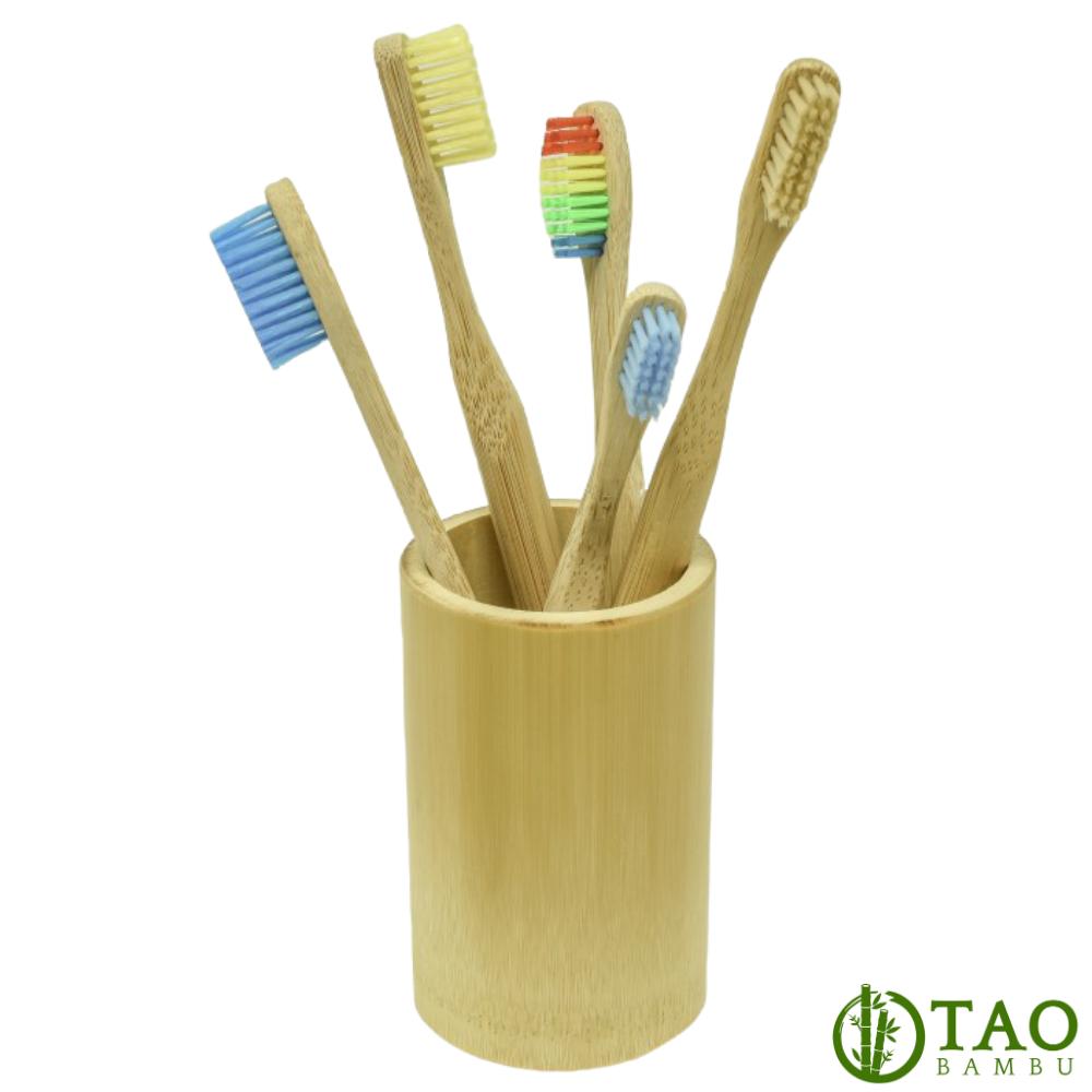 Porta Escovas de Bambu