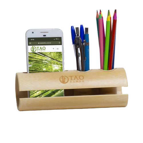 Porta Lápis De Bambu