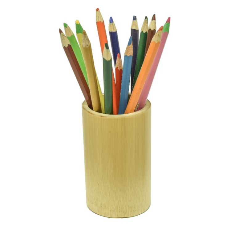 Porta Lápis de Bambu Pequeno
