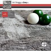 Tapete Art Shaggy Grey - Cinza - Lãs de Seda* 30mm