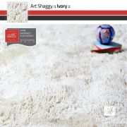 Tapete Art Shaggy Ivory - Branco Pérola - Lãs de Seda* 30mm