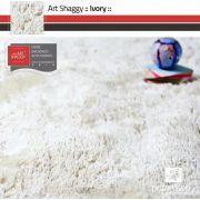 Tapete Art Shaggy Ivory, Marfim, Lã de Seda 30mm 2,00 x 2,50m
