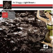Tapete Art Shaggy Light Brown, Marrom Bronze, Lã de Seda 30mm