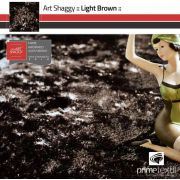 Tapete Art Shaggy Light Brown, Marrom Bronze, Lã de Seda 30mm 2,00 x 3,00m
