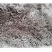 Tapete Long Shaggy Grey & Silver, Cinza/Prata, Fios de Seda 60mm 2,50 x 3,00m
