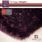 Tapete Silk Shaggy Aubergine, Berinjela, Fio de Seda 40mm 1,00 x 1,50m
