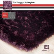 Tapete Silk Shaggy Aubergine, Berinjela, Fio de Seda 40mm 1,50 x 2,00m