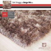 Tapete Silk Shaggy Beige Mix, Bege/Marrom, Fio de Seda 40mm 1,00 x 1,50m