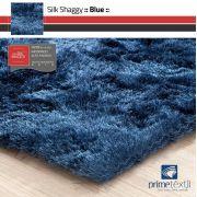 Tapete Silk Shaggy Blue, Azul Petróleo, Fio de Seda 40mm 0,50 x 1,00m