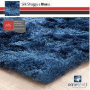 Tapete Silk Shaggy Blue, Azul Petróleo, Fio de Seda 40mm 2,50 x 3,00m