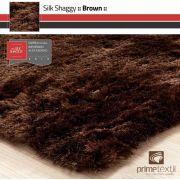 Tapete Silk Shaggy Brown, Marrom , Fio de Seda 40mm 2,50 x 3,00m