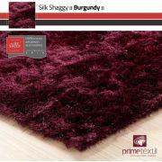 Tapete Silk Shaggy Burgundy, Vinho Bordô, Fio de Seda 40mm 0,50 x 1,00m