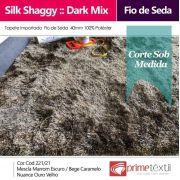 Tapete Silk Shaggy Dark Mix, Ouro Velho, Fio de Seda 40mm 2,50 x 3,00m