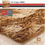 Tapete Silk Shaggy Gold, Dourado, Fio de Seda 40mm 0,50 x 1,00m