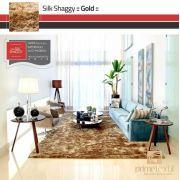 Tapete Silk Shaggy Gold, Dourado, Fio de Seda 40mm 2,50 x 3,00m