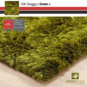 Tapete Silk Shaggy Green, Verde, Fio de Seda 40mm 0,50 x 1,00m
