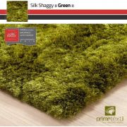 Tapete Silk Shaggy Green, Verde, Fio de Seda 40mm 2,00 x 3,00m
