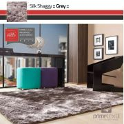 Tapete Silk Shaggy Grey, Cinza, Fio de Seda 40mm 3,00 x 4,00m