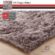 Tapete Silk Shaggy Grey - Cinza - Fios de Seda* 40mm