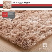Tapete Silk Shaggy Light Beige, Bege Marfim, Fio de Seda 40mm 3,00 x 4,00m